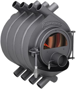 Отопительная печь газогенераторная Бренеран АОТ-06 тип 00 до 100м3 со стеклом